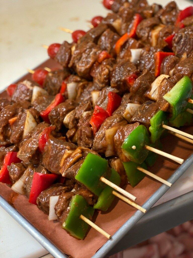 Steak & Peppers Kebab