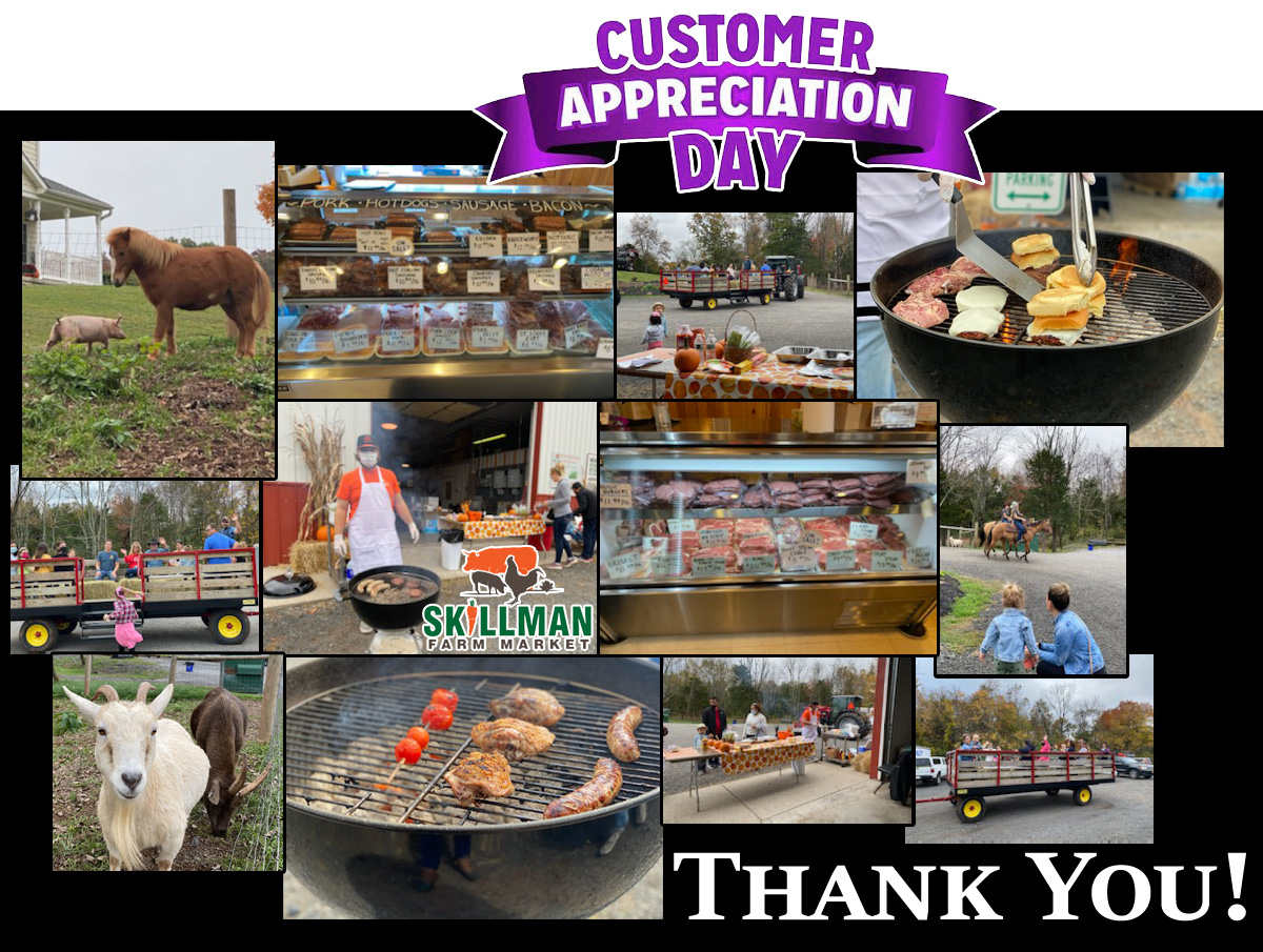 Skillman Farm Market and Butcher Shop Customer Appreciation Day 2020- Thank you!