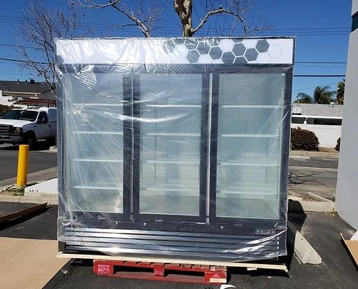 new 3-door display freezer at Skillman Farm Market and Butcher Shop