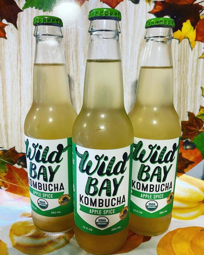Apple Spice flavor from Wild Bay Kombucha